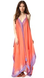 Free People Merida Printed Maxi Dress Pink Combo