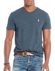 Polo Ralph Lauren Relaxed Fit V Neck T Shirt Blue Eclipse