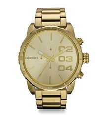 Diesel Stainless Steel Double Down Bracelet Watch Gold