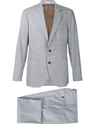 Brunello Cucinelli Fitted Business Suit Grey