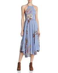 Free People Seasons In The Sun Printed Dress Blue