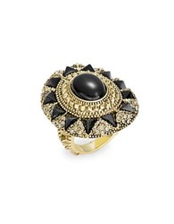House Of Harlow Starburst And Pave Cocktail Ring Black