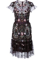 Needle And Thread Sequined Lace Overlay Dress Blue
