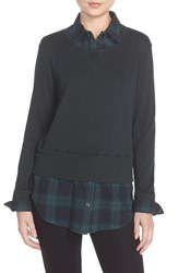 Women's Monrow Plaid Double Layer Sweatshirt
