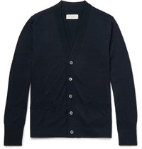 Officine Generale Nina Lim Fit Merino Wool Cardigan Navy