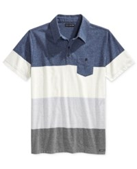 Ocean Current Men's Marius Colorblocked Pocket Polo Lagoon