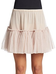 Red Valentino Tiered Tulle Skirt Buff