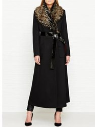 By Malene Birger Cubic Faux Fur Trimmed Coat Black