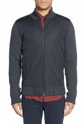 Vince Wool And Nylon Zip Front Jacket Black