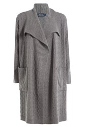 Polo Ralph Lauren Merino Wool Cardigan With Cashmere Grey