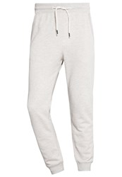 Tom Tailor Denim Tracksuit Bottoms Ecru Melange Mottled Light Grey