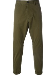 Dsquared2 Cropped Trousers Green