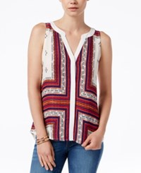 Sanctuary Lana Craft Printed Sleeveless Top Scarf Print