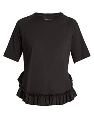 Simone Rocha Frilled Hem T Shirt Black