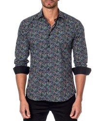 Jared Lang Graphic Print Sport Shirt Multi Pattern