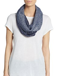 Saks Fifth Avenue Two Tone Infinity Scarf Petrol Blue
