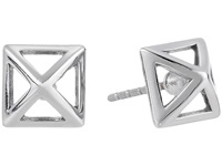 Rebecca Minkoff Cutout Stud Earrings Imitation Rhodium Earring Silver