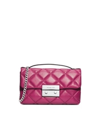 Michael Kors Sloan Quilted Leather Small Messenger Deep Pink
