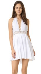 Pilyq Water Lily Crochet Dress White