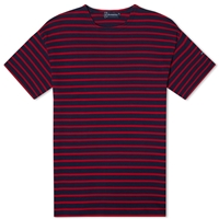 Armor Lux 1524 Loctudy Tee Navy And Red