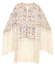 Talitha Zara Fringed Embroidered Wrap