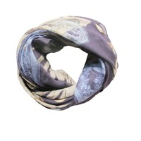 Alva Norge Scully Navy Cashmere Scarf Blue