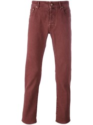 Jacob Cohen Slim Fit Jeans Pink Purple