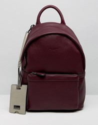 Ted Baker Leather Backpack Small Red