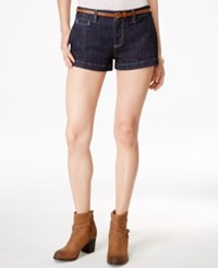 American Rag Juniors' Ricky Belted Denim Shorts Only At Macy's Rinse
