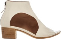 Marsell Women's Cutout Open Toe Ankle Boots Ivory