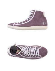D.A.T.E. High Tops And Trainers Deep Purple