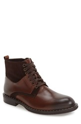 Zanzara Men's 'Verona' Midi Studded Boot Brown