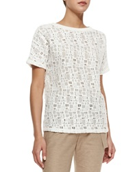 Vince Tiled Lace Short Sleeve Tee
