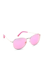 Matthew Williamson Revo Mirrored Sunglasses Pink