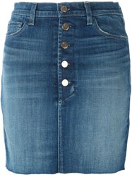 J Brand 'Rosalie' Denim Skirt Blue