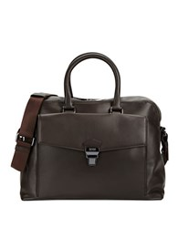 Hugo Boss Anthology Leather Briefcase Brown