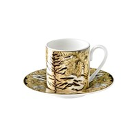 Roberto Cavalli Tiger Wings Coffee Cup And Saucer