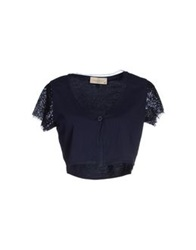 Just For You Wrap Cardigans Dark Blue