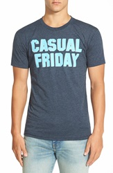 Kid Dangerous 'Casual Friday' Graphic T Shirt Navy