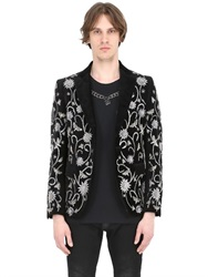 John Richmond Embroidered Velvet Jacket