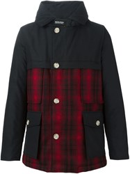 Woolrich Check Panel Padded Jacket Black