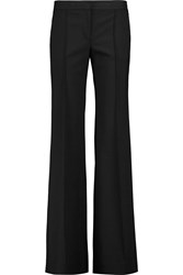 Dkny Wool Blend Wide Leg Pants Black