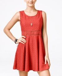American Rag Crochet A Line Dress Only At Macy's Hot Coral