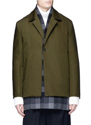 Ffixxed Studios 'Workaround' Reversible Wool Cashmere Plaid Underlay Twill Coat Green
