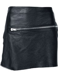 Saint Laurent Zipped Mini Skirt Black