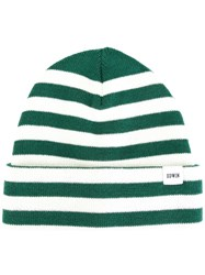 Edwin Striped Beanie Green