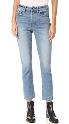 Helmut Lang High Rise Crop Jean Light Blue