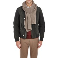 Barneys New York Honeycomb Stitched Scarf Beige Tan