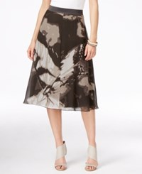 Alfani Printed A Line Midi Skirt Only At Macy's Scenic Butterfly