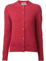 Barrie Elbow Patch Cardigan Red
